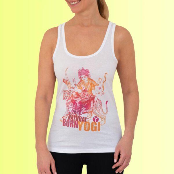 yoga tank shirt mit buntem durga aufdruck von natural born yogi