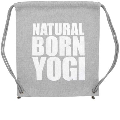 Graues Yoga Gym Bag von Natural Born Yogi.
