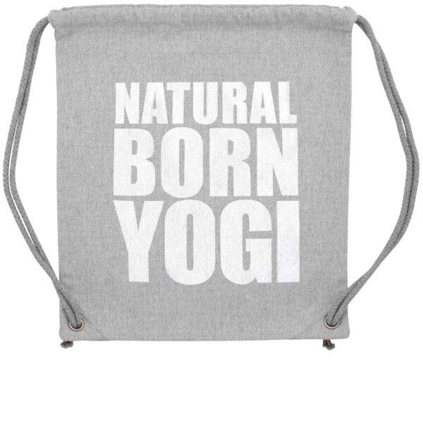 Graues Yoga Gym Bag von Natural Born Yogi.