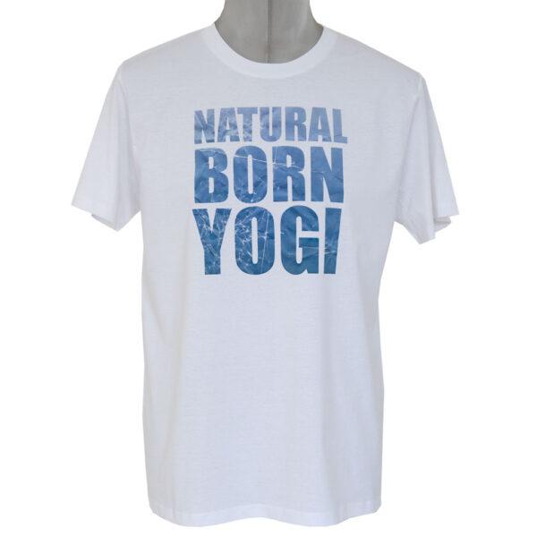 Herren Yoga Top mit Natural Born Yogi Aufdruck.