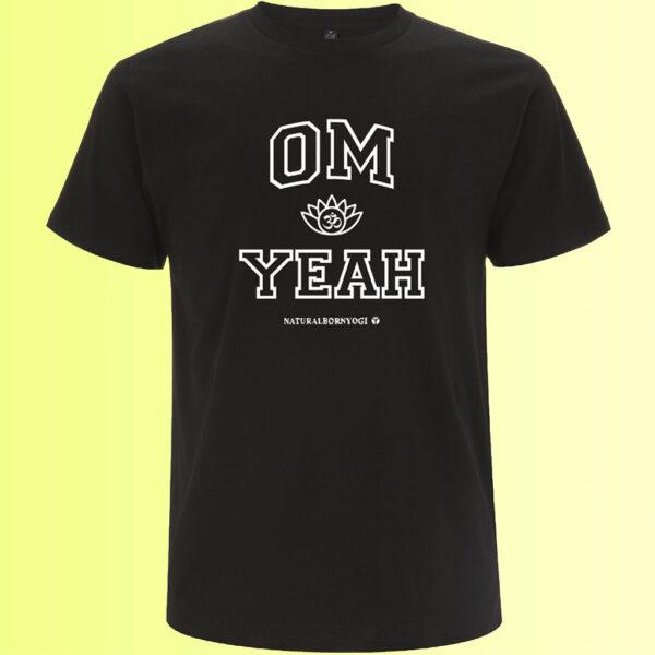 schwarzes männer yoga t-shirt mit om aufdruck organic