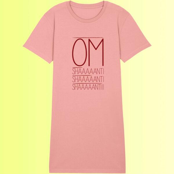 yoga shirtkleid für damen in nachhaltiger qualität rosa