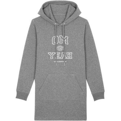 Grauer Om Yeah Hoodie für Yoga und Freizeit..