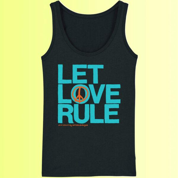 schwarzes yoga tank shop mit love aufdruck