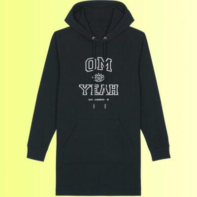 yoga hoodie nachhaltig mit om aufdruck für frauen von natural born yogi