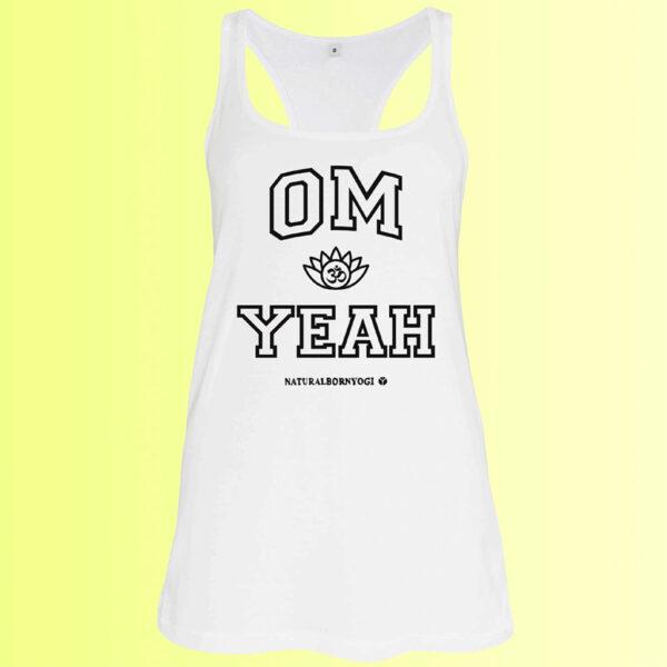 weites yoga tank shirt mit om aufdruck für damen