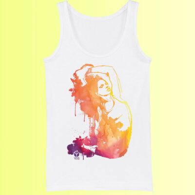 yoga tank shirt mit farbigem asana aufdruck